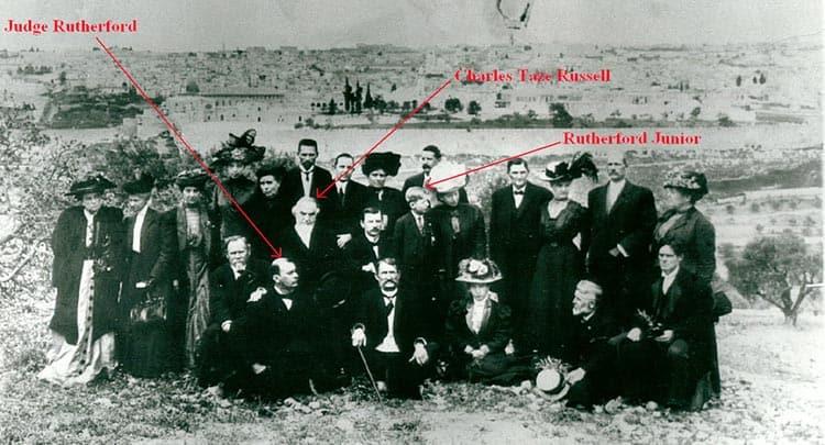Russell en Rutherford in Jeruzalem
