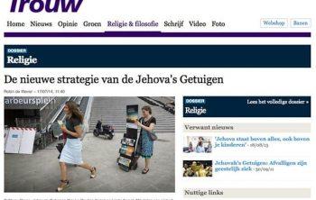Nieuwe strategie Jehova Getuigen
