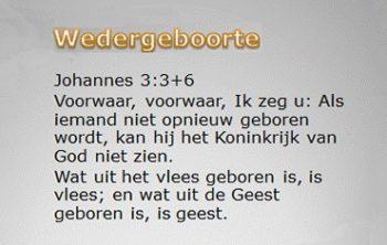 Jehova Getuigen niet wedergeboren