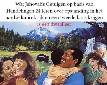 Opstanding bij Jehova Getuigen