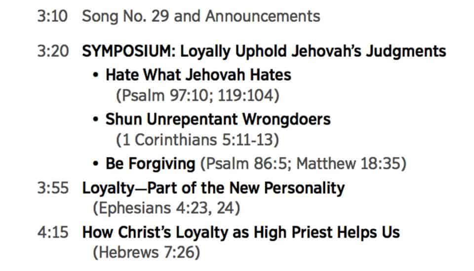 congres Jehova Getuigen over loyaal zijn