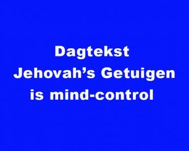 Dagtekst Jehova Getuigen