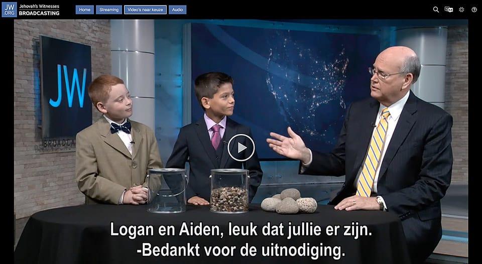 Video-manipulatie kinderen Jehovah's Getuigen