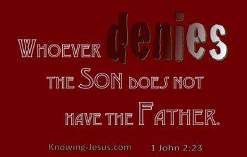 Jehova Getuigen loochenen de Zoon!