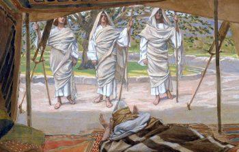Jehovah bezoekt Abraham.