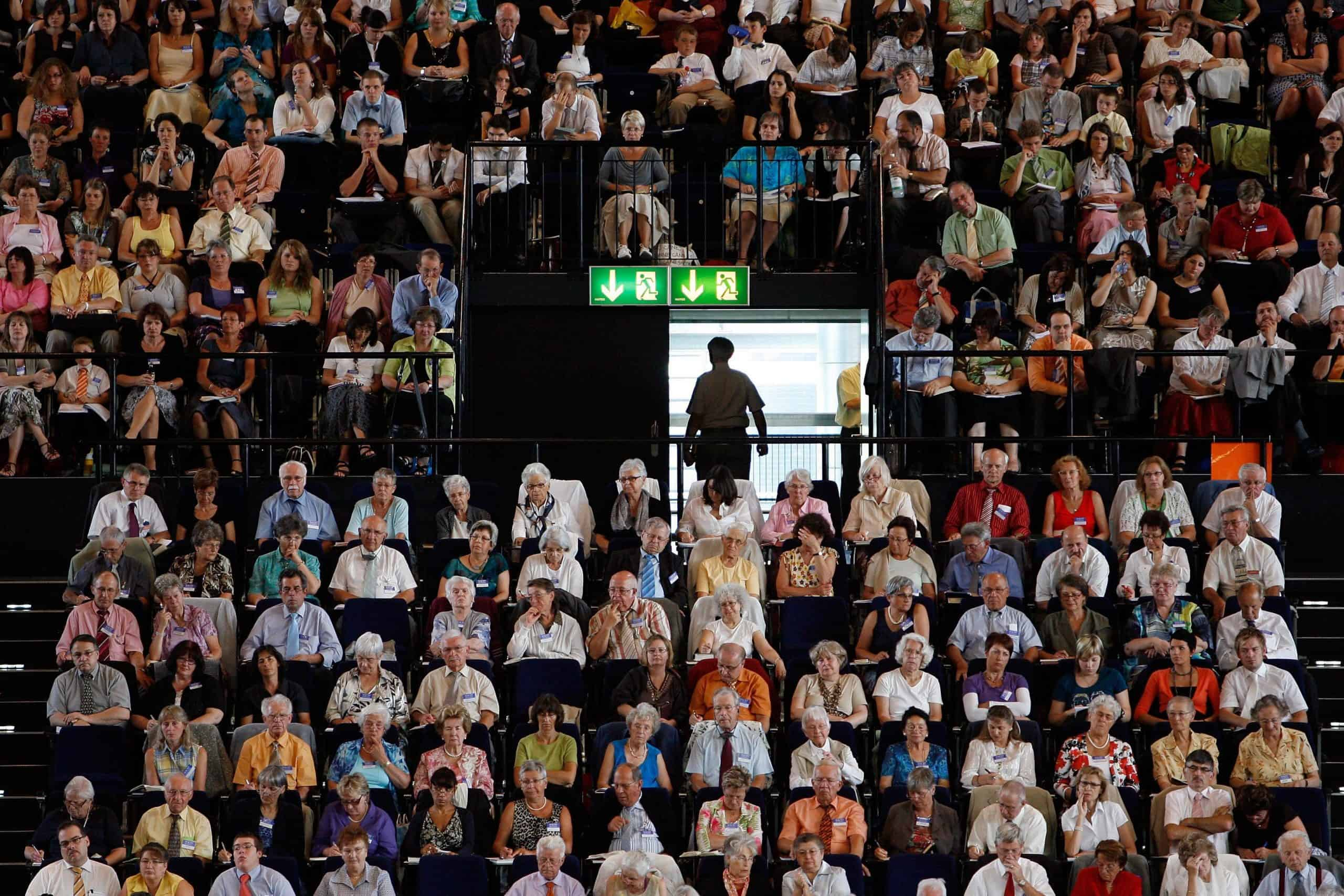 Afzien op congres Jehovah's Getuigen